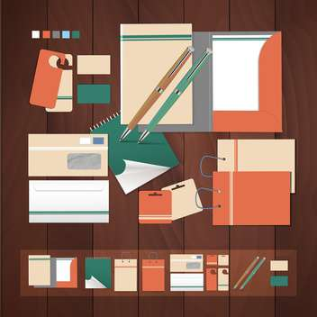 abstract office supplies background - vector gratuit #134675