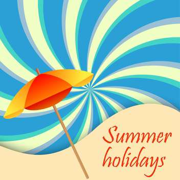 summer holiday vacation background - vector gratuit #134705