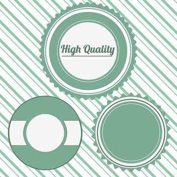 high quality vector badges set - vector gratuit #134715