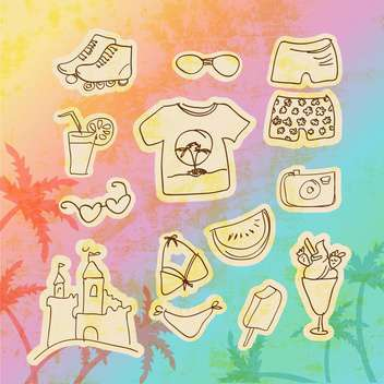 vector set of travel icons - vector gratuit #134725