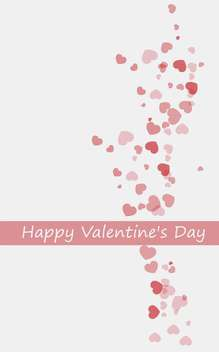 valentine's day background with hearts - vector gratuit #134815
