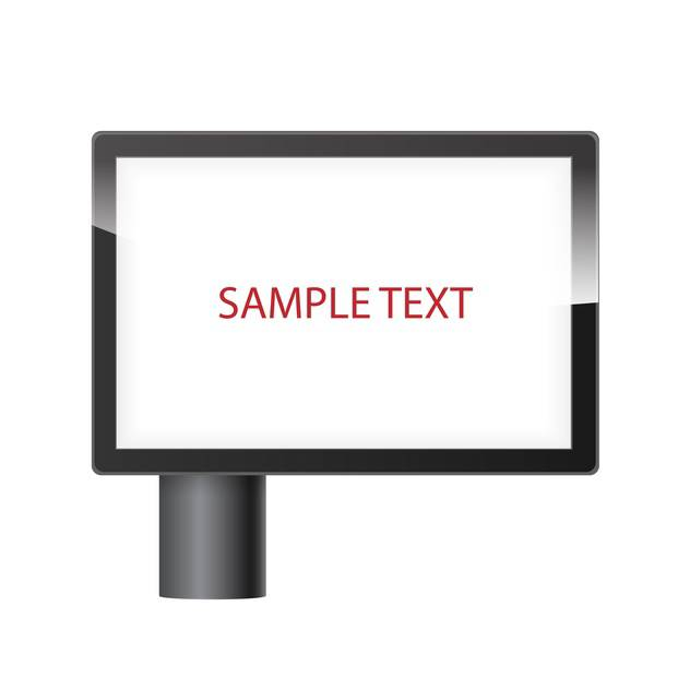 blank horizontal billboard with place for text - vector gratuit #134835