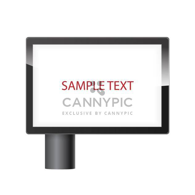 blank horizontal billboard with place for text - Free vector #134835