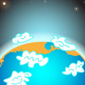 earth planet with clouds illustration - Free vector #134915