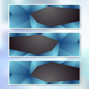 vector set of web banners - vector gratuit #134985