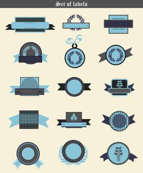 wheat labels and badges in retro elements - vector gratuit #135085