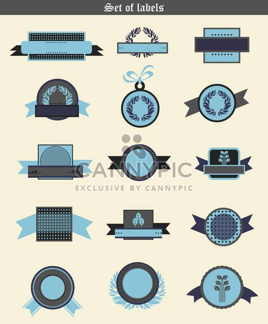 wheat labels and badges in retro elements - Free vector #135085