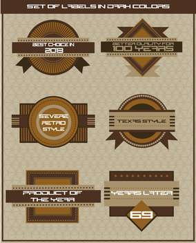 set of shop labels in retro style - vector gratuit #135105