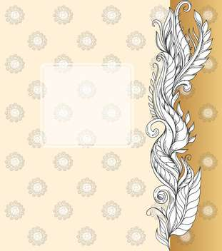 artistic floral vector background with copyspace - Free vector #135145