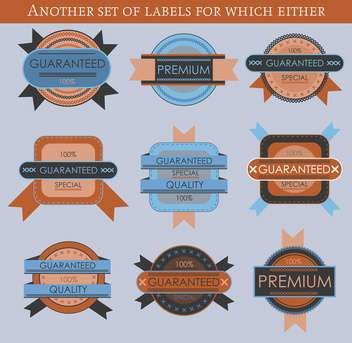 set of retro vector labels and badges background - vector gratuit #135215