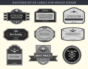 retro vector labels and badges set background - vector gratuit #135225