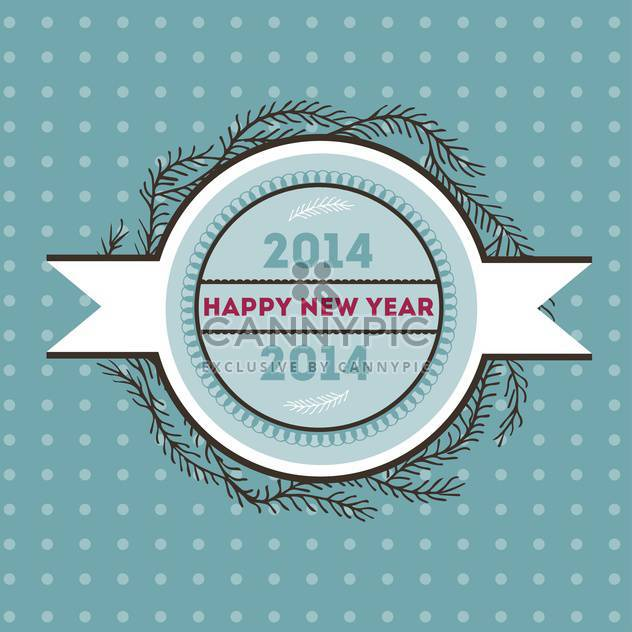 Happy new 2014 year vector card - Free vector #135305