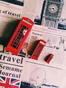 Toy red phone booths - image gratuit #136465