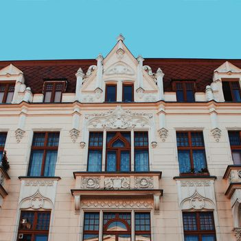 Facade of building in Lodz city - Free image #136655
