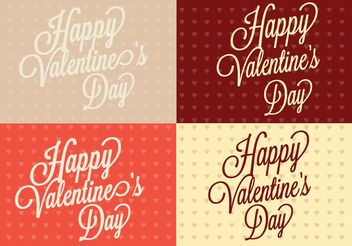 Polka Dot Heart Valentine's Day Backgrounds - vector gratuit #138655