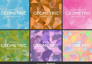 Geometric and Polygonal Backgrounds - Free vector #138675