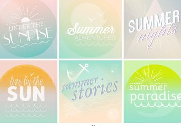 Pastel Summer Time Backgrounds - vector gratuit #138685