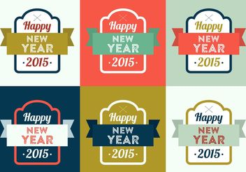 New Year Vector Backgrounds - vector gratuit #138705