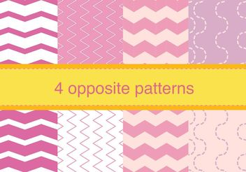 Zig Zag Opposite Patterns - Kostenloses vector #138835