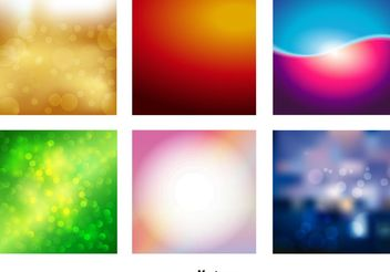 Blur Vector Backgrounds - Free vector #138855