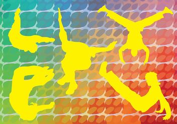 Acrobatic Silhouettes Vector - Free vector #138865