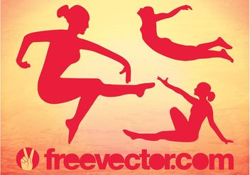 Graceful Vector Girls - Kostenloses vector #138935