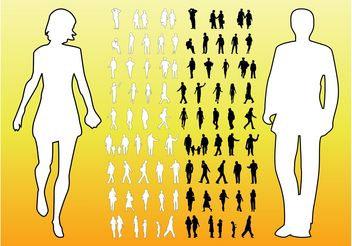 People Silhouettes Graphics - Free vector #138955