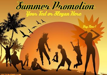 Summer Advertising - Kostenloses vector #138965