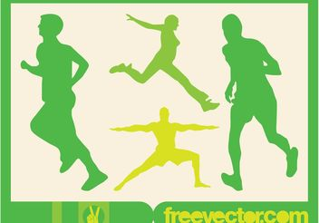 Running People Vector - vector gratuit #138975