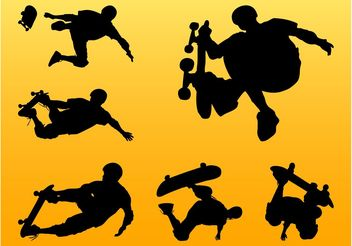Skateboarding Silhouettes - Free vector #139015