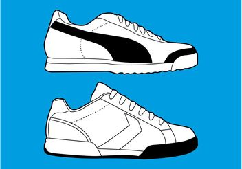 Sports Shoes Graphics - бесплатный vector #139065
