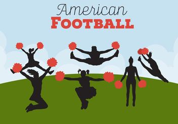Football Cheerleading Backgrounds - vector gratuit #139075
