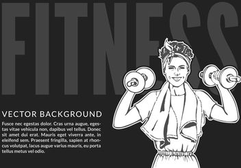 Free women's Fitness Vector Illustration - Free vector #139105