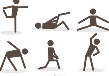 Workout Stick Figure Icons Vector Pack - Free vector #139135