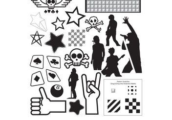 Vector Resources Part 4 - Punk Collection - vector gratuit #139165