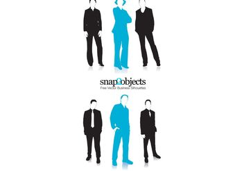 Business Vector People Silhouettes - vector gratuit #139175