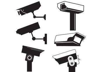 CCTV Camera Vector Graphics - vector #139185 gratis