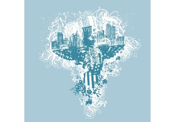 City Vector - City of Angels Illustration - vector gratuit #139205