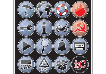 icons - vector #139315 gratis