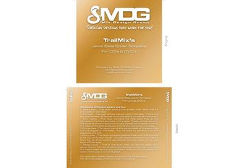CD/DVD Label Template by MDG - Free vector #139345