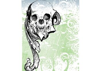Free Money skull Vector - vector #139395 gratis