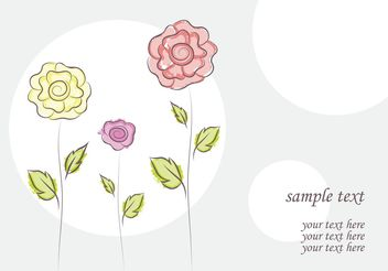 free vector flower doodles - бесплатный vector #139405