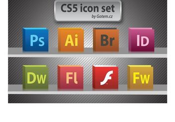Free CS5 icon pack - vector gratuit #139415