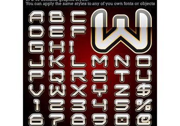 Free vector alphabet with graphic styles - Kostenloses vector #139445