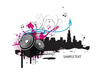 Music illustration - vector gratuit #139505