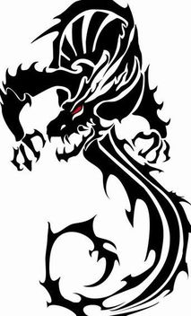 Black Vector Dragon - vector gratuit #139575