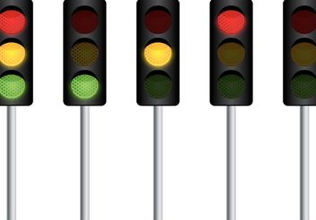 Vector Traffic Light - vector gratuit #139625