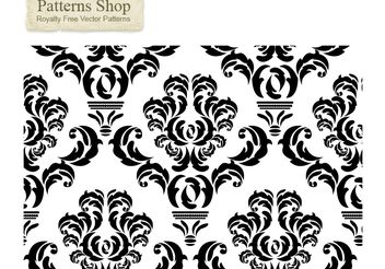 Free damask vector pattern 2 - Kostenloses vector #139705