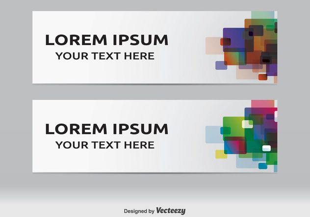 Modern Web Banners - Free vector #139715