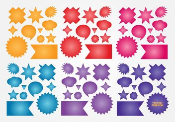 Colorful Buttons Vectors - vector gratuit #139925